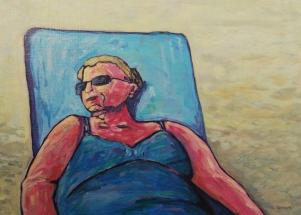 Liebe (woman at beach)